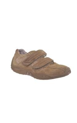 Pantofi piele Elefanten, bej cu lila, marime 31