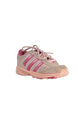 Pantofi piele intoarsa roz Adidas, marime 20