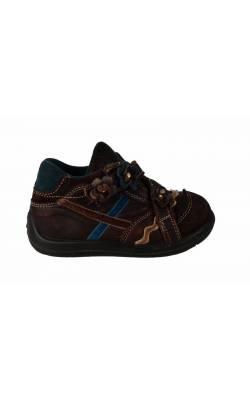 Pantofi piele maro Bama, decor flori, marime 23