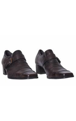 Pantofi piele maro Roberto Santi, marime 36