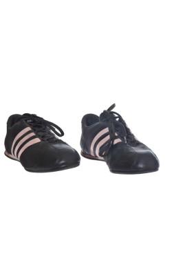 Pantofi piele naturala Adidas, maro cu roz, marime 40