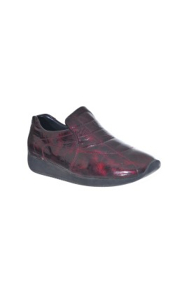 Pantofi piele naturala lacuita Ara, marime 38