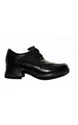 Pantofi piele naturala neagra Hush Puppies, marime 32
