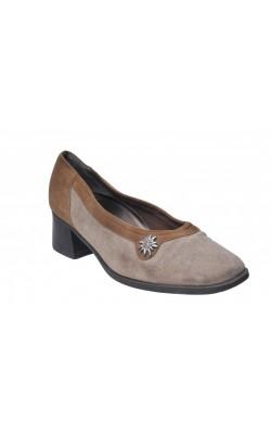 Pantofi piele nuante bej Ornig, marime 39