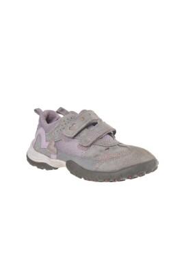 Pantofi piele Superfit, gri cu mov, marime 31
