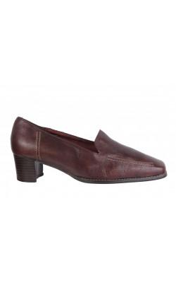 Pantofi PieSanto, piele naturala cognac, marime 37, calapod lat