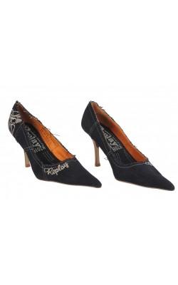 Pantofi Replay, denim si piele naturala, marime 37