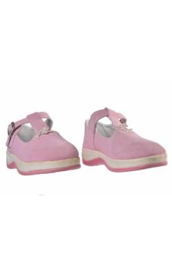Pantofi roz cu fundinta, marime 27