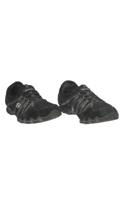 Pantofi Skechers, piele intoarsa si mesh, marime 37