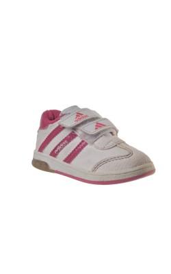 Pantofi sport alb cu roz Adidas, marime 21