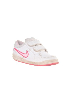 Pantofi sport albi decor roz Nike, marime 26