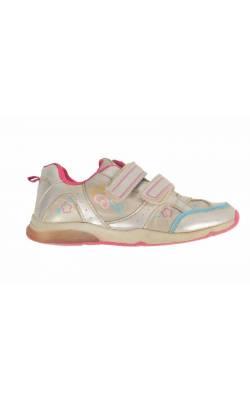 Pantofi sport fetite, argintiu cu roz, marime 29