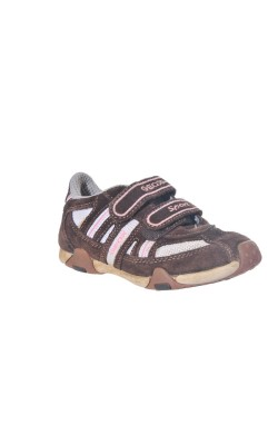 Pantofi sport Geox fetite, piele si mesh, marime 28