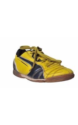Pantofi sport Puma, galben cu decor negru, marime 29.5