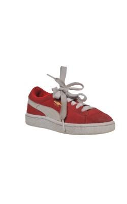 Pantofi sport Puma, piele intoarsa, marime 29.5
