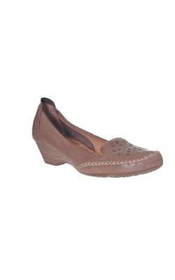 Pantofi usori din piele naturala Jana, calapod lat, marime 39.5