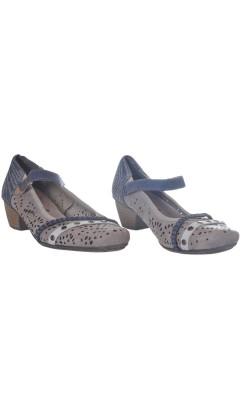 Pantofi usori din piele Rieker, talpa Antistress, marime 37