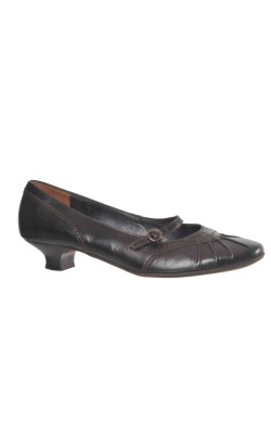 Pantofi usori Paul Green, piele maro inchis, marime 40