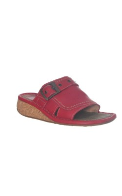 Papuci din piele Camel, talpa pluta, marime 37