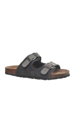 Papuci talpa piele si pluta Wellness, marime 33