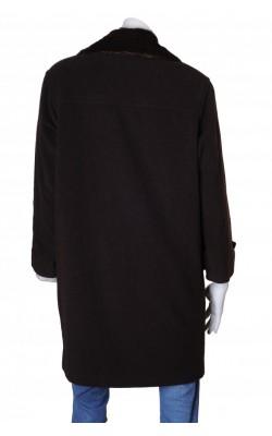 Palton maro din stofa lana Collection by Lindex, marime L