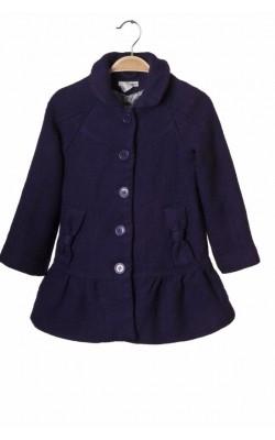 Pardesiu mov H&M, amestec lana, 6-7 ani