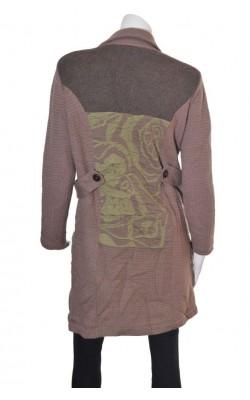 Pardesiu tricot lana captusit Cle, marime XL