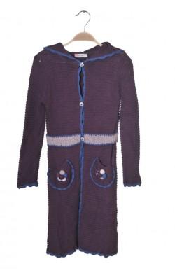 Pardesiu tricotat Aya Naya, 7-8 ani