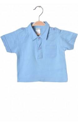 Polo bleu Tiny Ted, bumbac si in, 6-9 luni