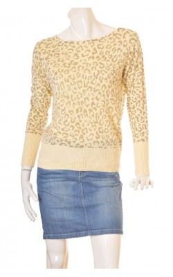 Pulover animal print City Knit, marime L
