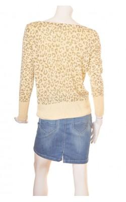 Pulover animal print City Knit, marime L