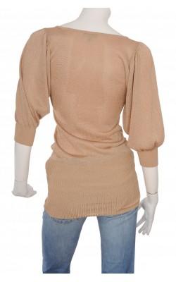 Pulover tricot fin cu fir metalic Bebe, marime XS