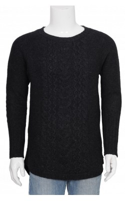 Pulover gri de lana H&M L.o.g.g., marime S
