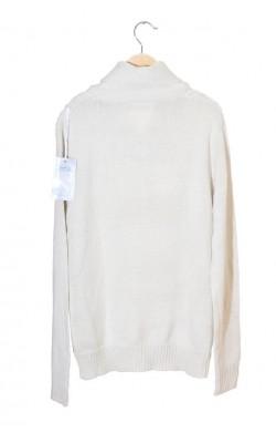 Pulover guler sal Andrid, tricot cu torsade, marime XL