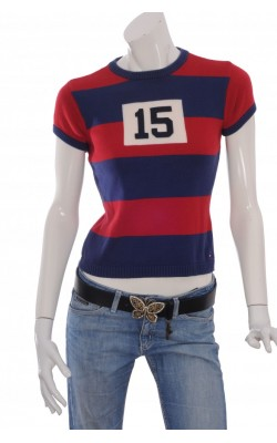 Pulover tricot fin bumbac Tommy Hilfiger, marime S