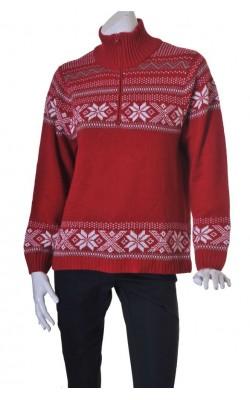 Pulover motive iarna Bluewear, marime 44