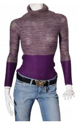 Pulover tricot fin nuante mov mov Lindex, marime XS