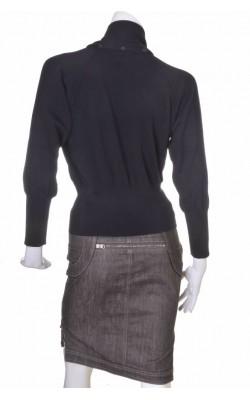 Pulover negru lana pura Gispa, marime M