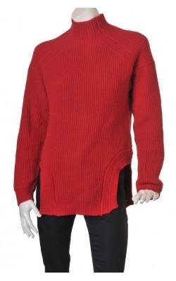 Pulover rosu calduros H&M, amestec lana, marime S