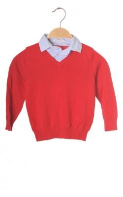 Pulover rosu H&M, 3-4 ani