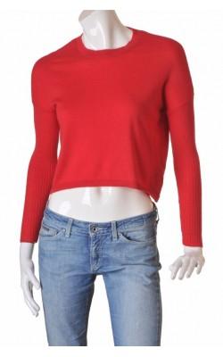Pulover rosu lana merinos H&M, marime S