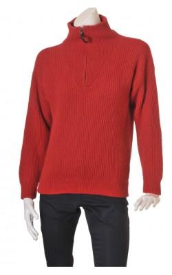 Pulover rosu lana Shetland Gaupa, marime L