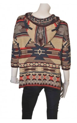 Pulover tip poncho H&M, marime S