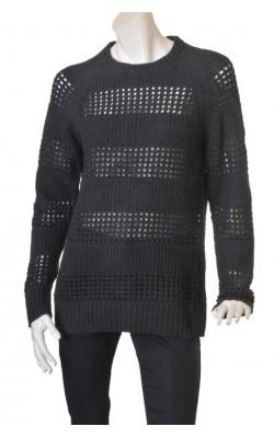 Pulover tricot ajurat lana H&M, marime M