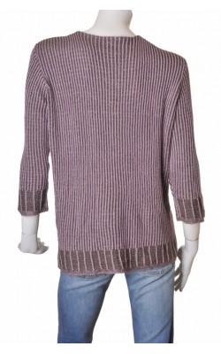 Pulover tricot reiat mov bu bej, marime 54