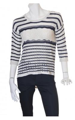 Pulover tricot subtire ajurat Mudo Collection, marime 42