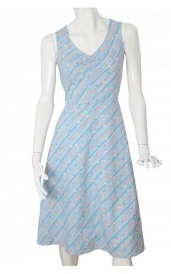 Rochie bleu print geometric H&M, marime 40