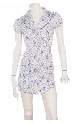 Rochie alba print floral Bik Bok, marime 34
