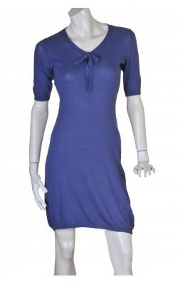 Rochie albastra din tricot fin Seven Lemon, marime S