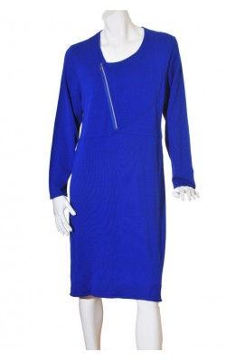 Rochie albastra tricot mix bumbac Hanna, marime XXL